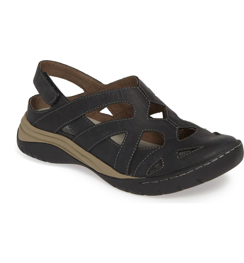 BIONICA Maclean 2 Sandal, Main, color, BLACK LEATHER