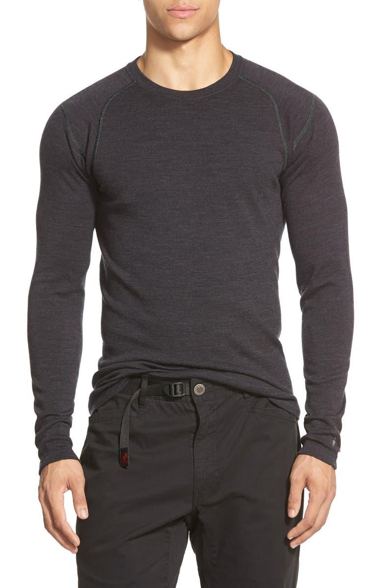 SMARTWOOL Merino 250 Base Layer Crewneck T-Shirt, Main, color, CHARCOAL HEATHER