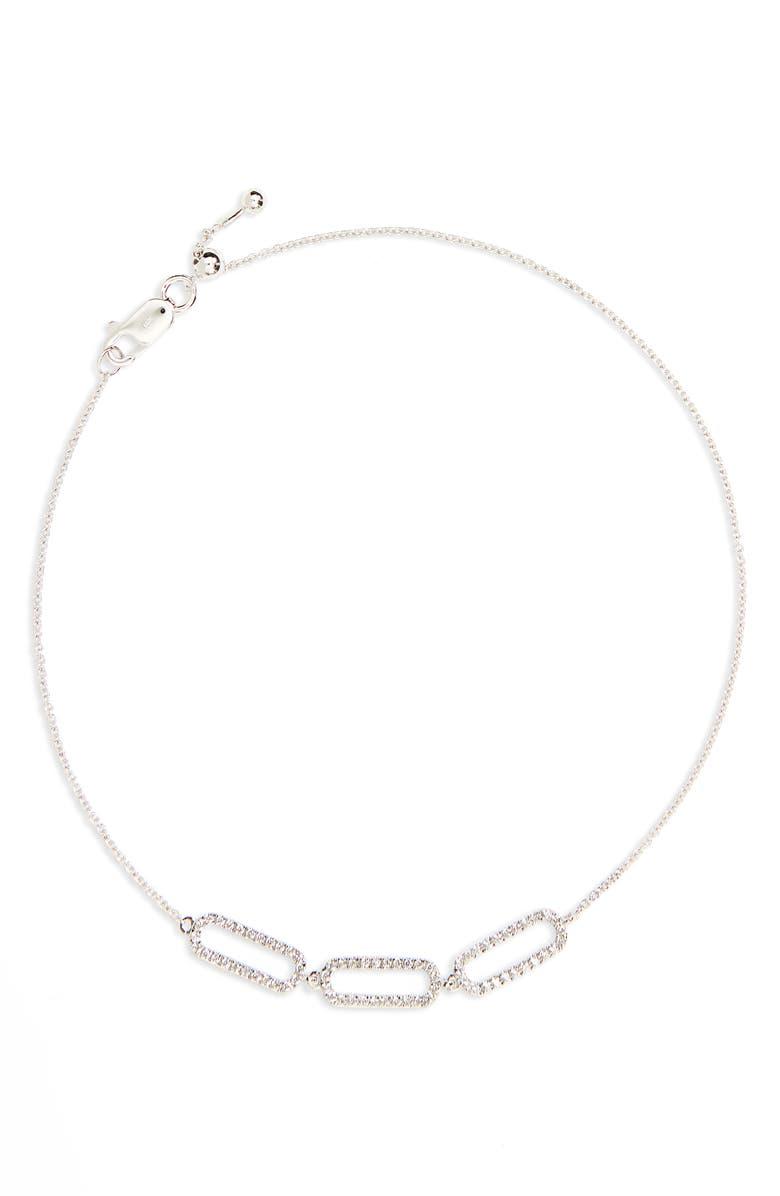 BONY LEVY Triple Rounded Rectangle Diamond Adjustable Bracelet, Main, color, 711