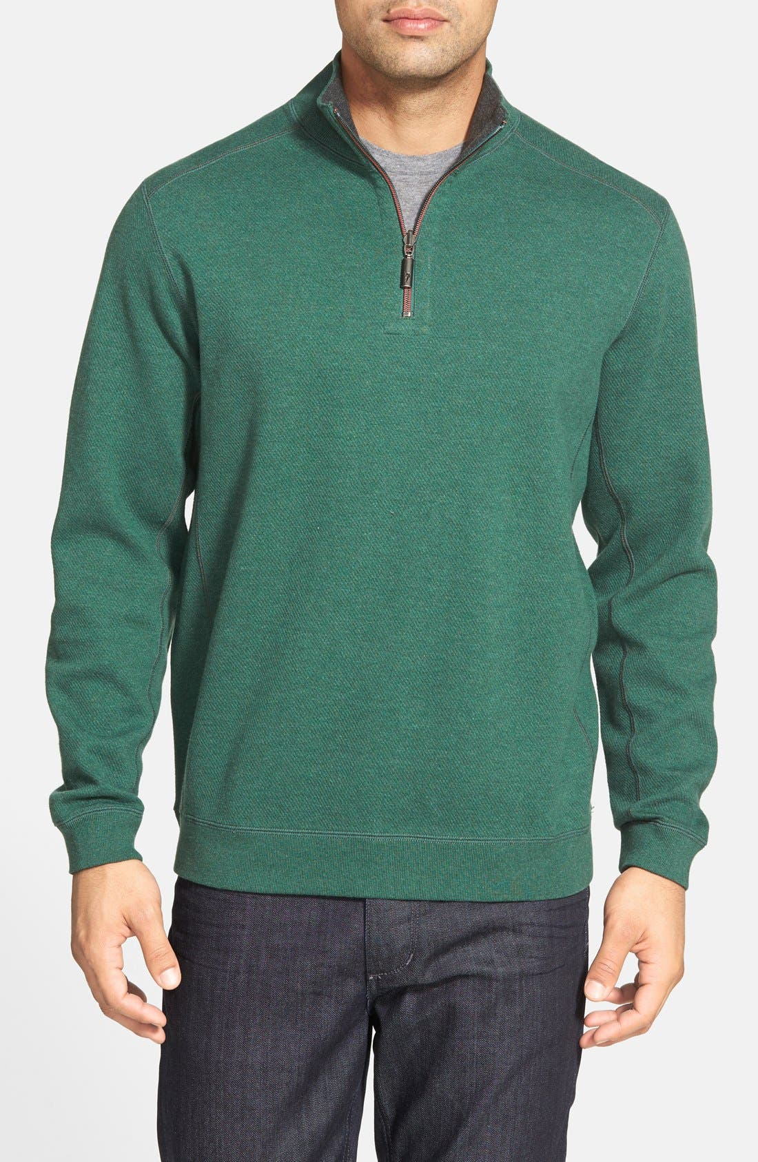 ,                             'Flip Side' Reversible Quarter Zip Pullover,                             Main thumbnail 52, color,                             302