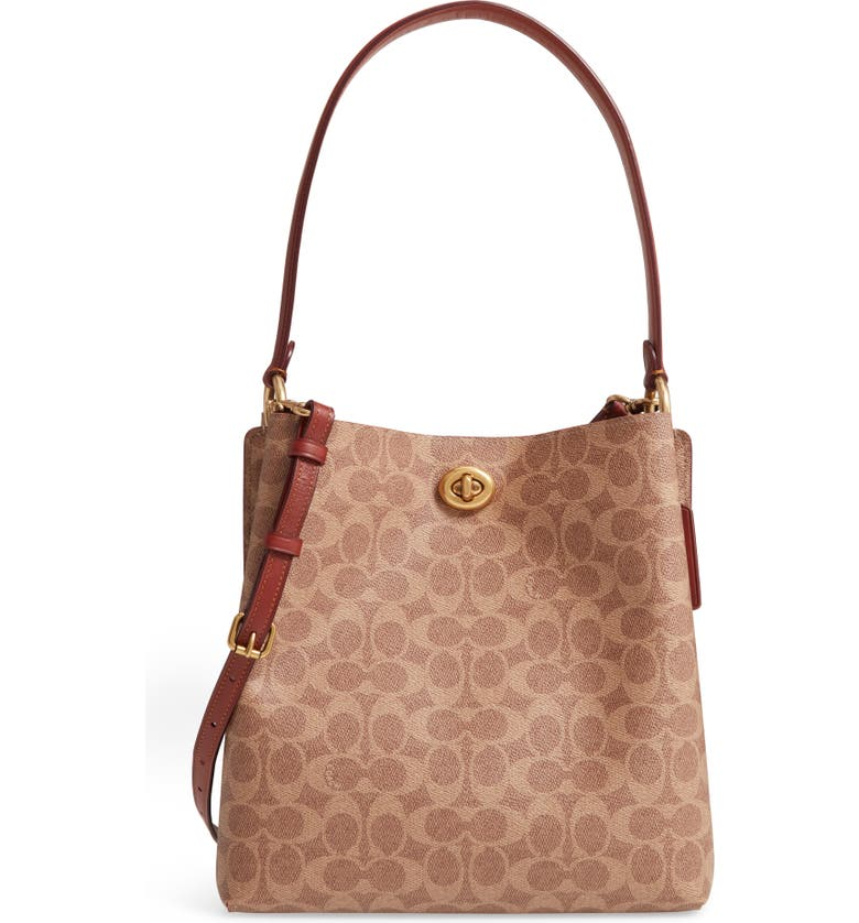 COACH Charlie Coated Canvas Bucket Bag, Main, color, 200