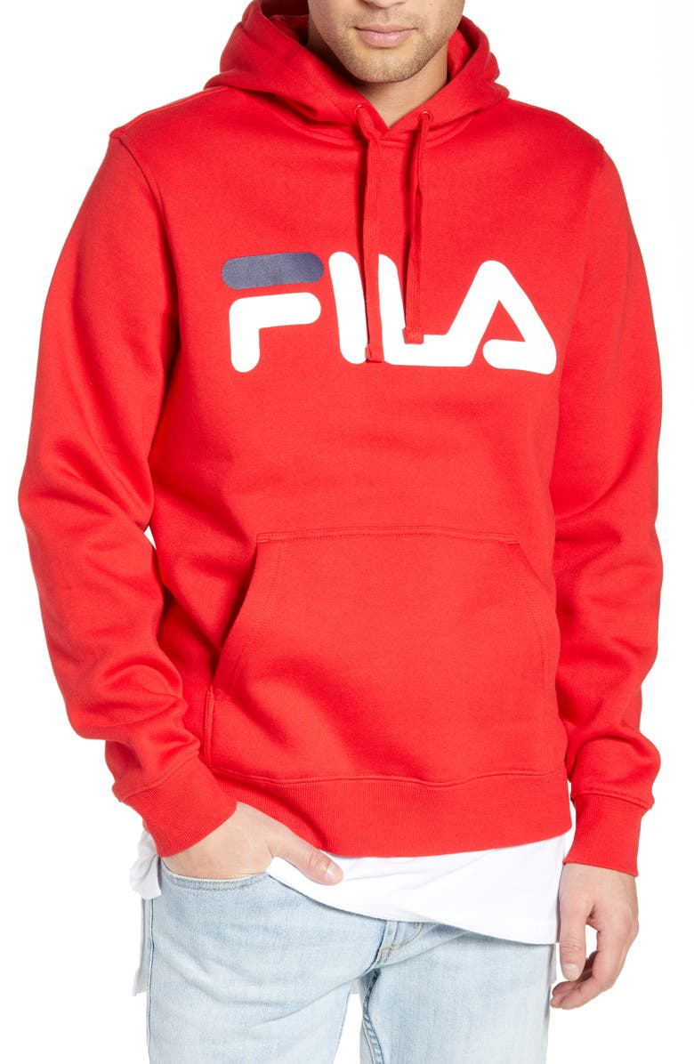FILA Logo Graphic Hooded Sweatshirt