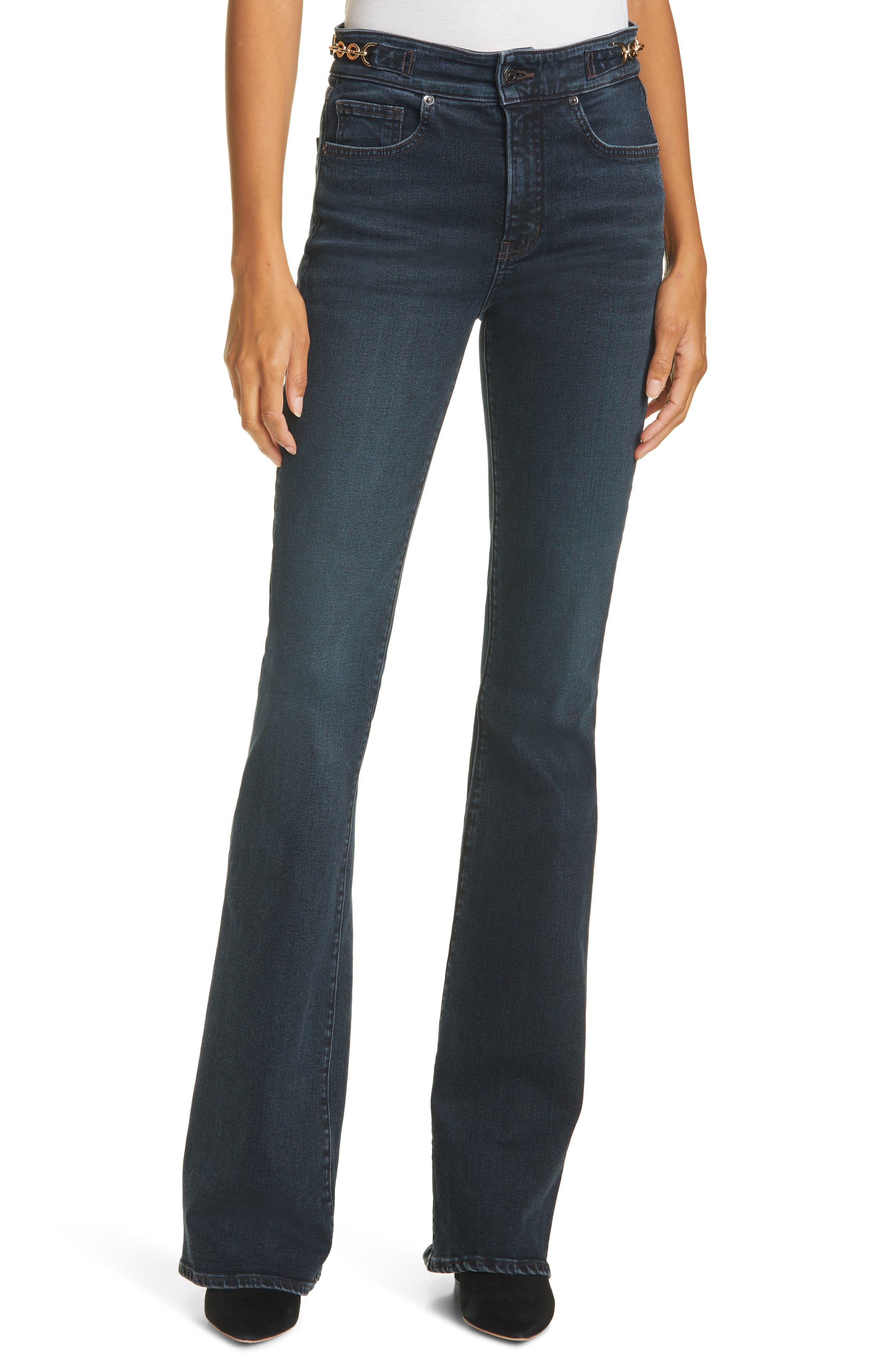 Women's Veronica Beard Beverly High Waist Skinny Flare Jeans