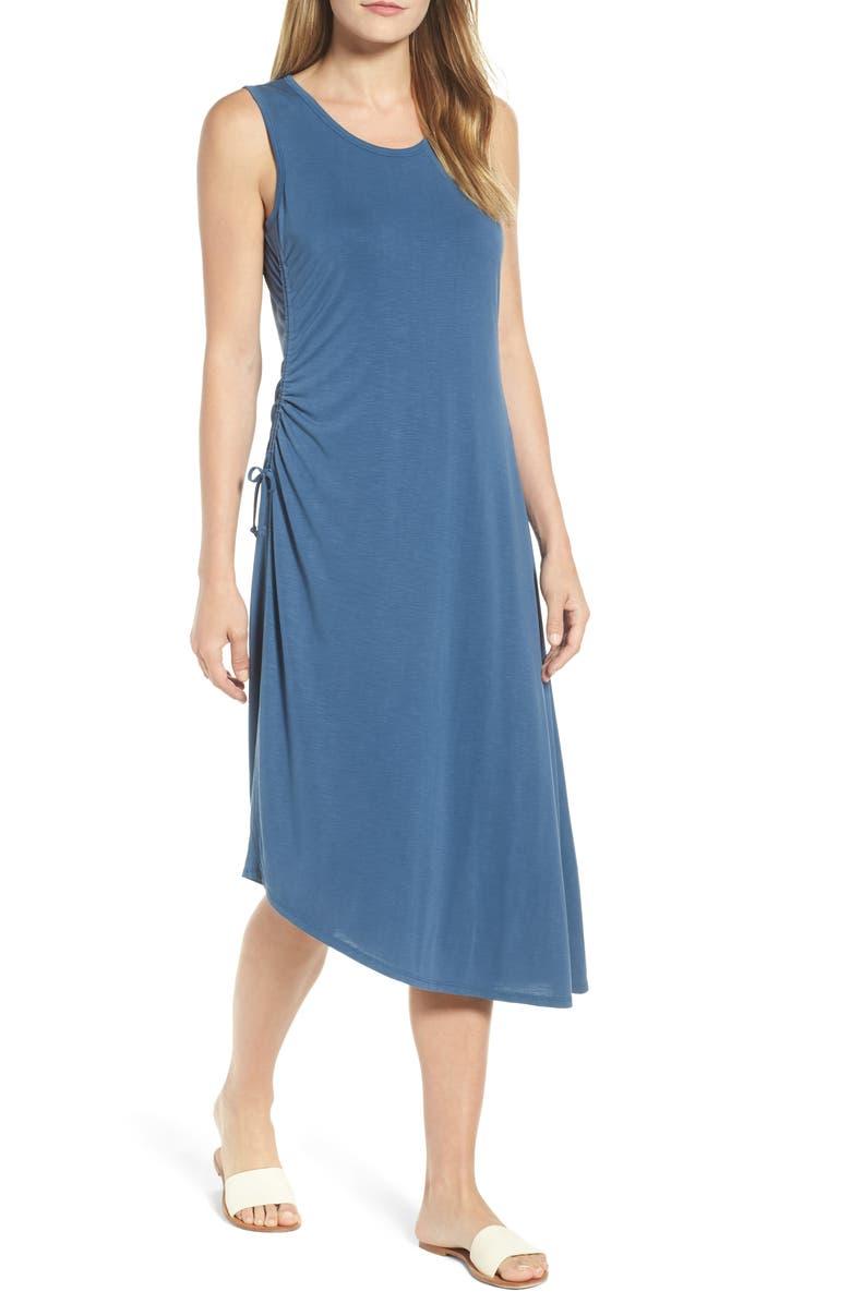 NIC+ZOE Relax & Ride Midi Dress, Main, color, WASHED RICH INDIGO