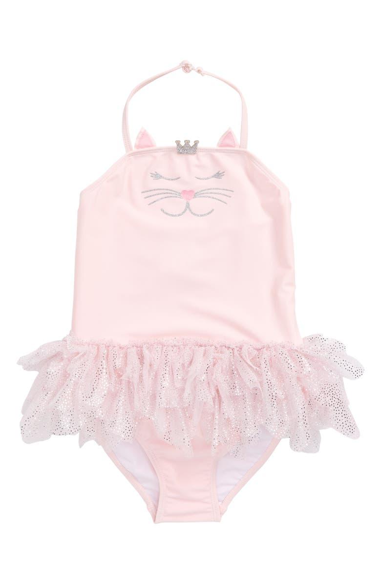 Kate Mack Kitty Princess Tutu One Piece Swimsuit Toddler Girls Little Girls