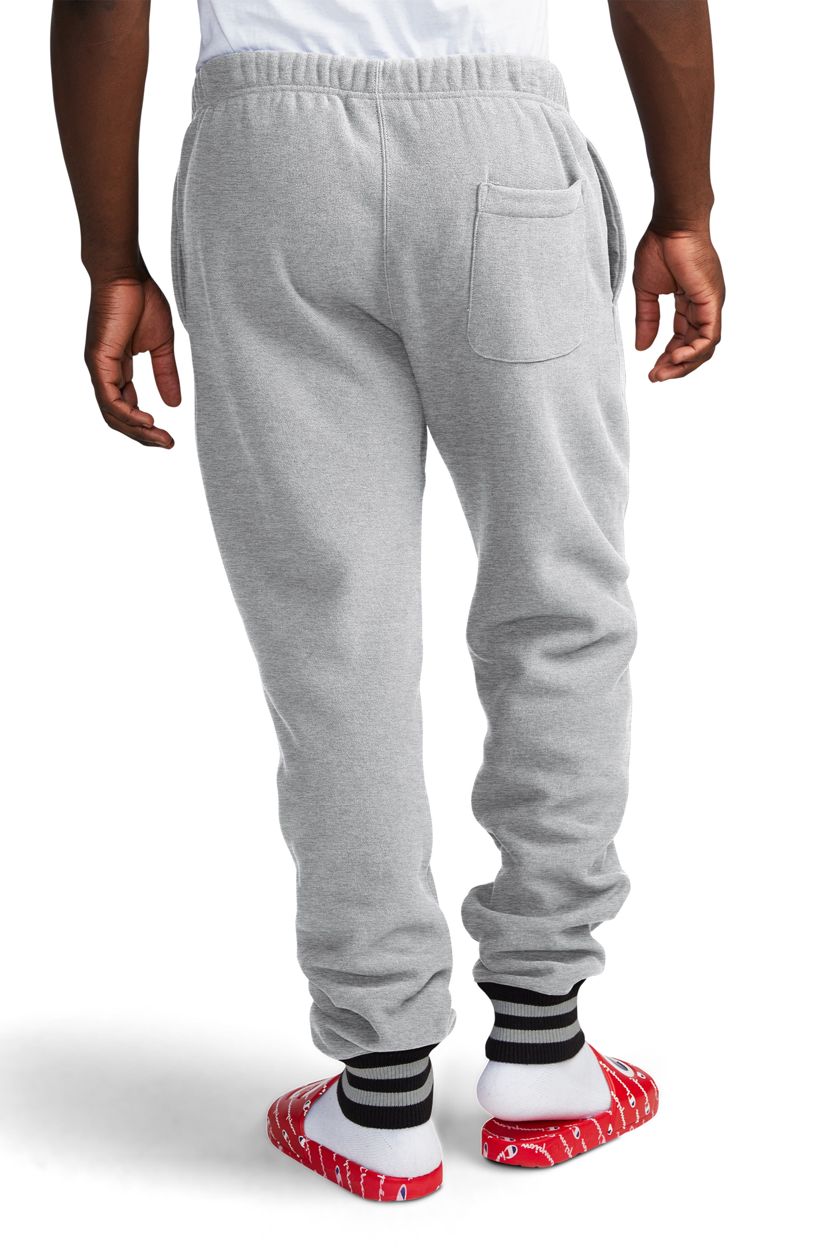 ,                             Yarn Dyed Cuff Sweatpants,                             Alternate thumbnail 2, color,                             OXFORD GREY/ BLACK