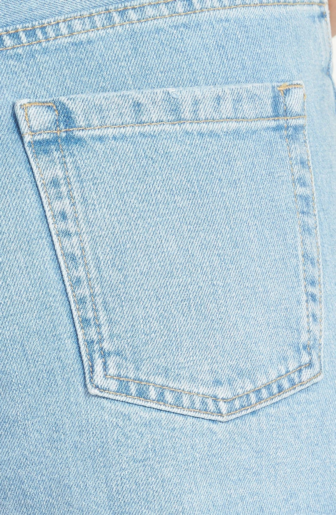 ,                             Moto Slouchy Cutoff Shorts,                             Alternate thumbnail 5, color,                             400