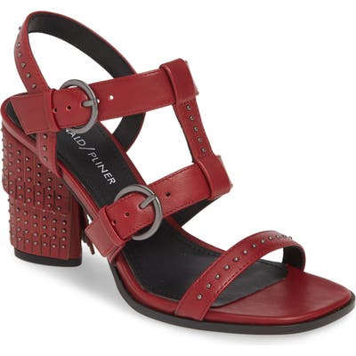 Donald Pliner Freyah Block Heel Sandal- Red