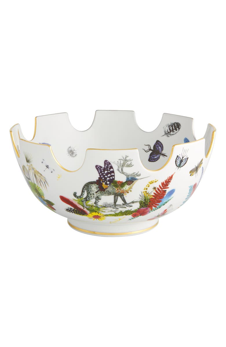 CHRISTIAN LACROIX Caribe Fruit Bowl, Main, color, WHITE