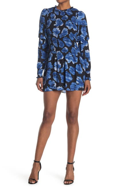 Image of Parker Lilly Patterned Blouson Sleeve Dress
