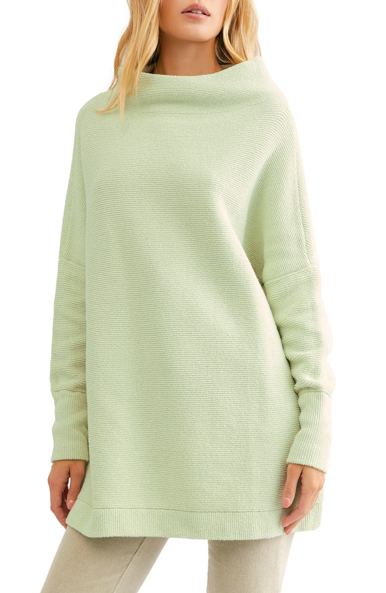 FREE PEOPLE Ottoman Slouchy Tunic, Main, color, HONEYDEW