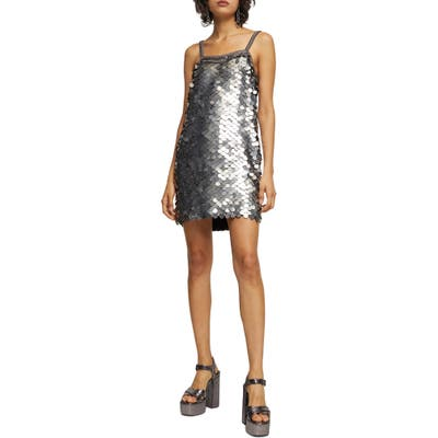 Topshop Sequin Slipdress, US (fits like 10-12) - Metallic