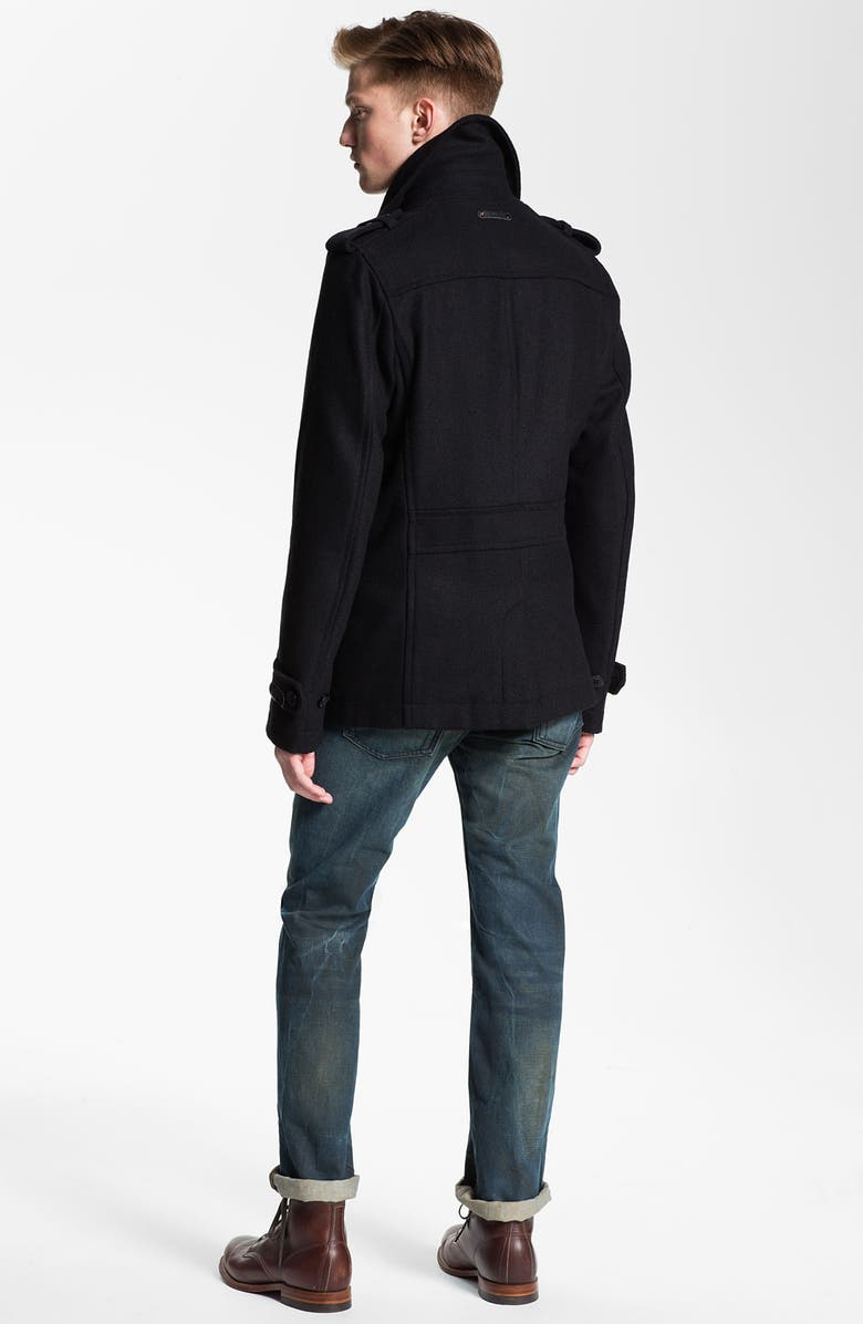 DIESEL<SUP>®</SUP> 'Wittor' Trim Fit Peacoat, Main, color, 001