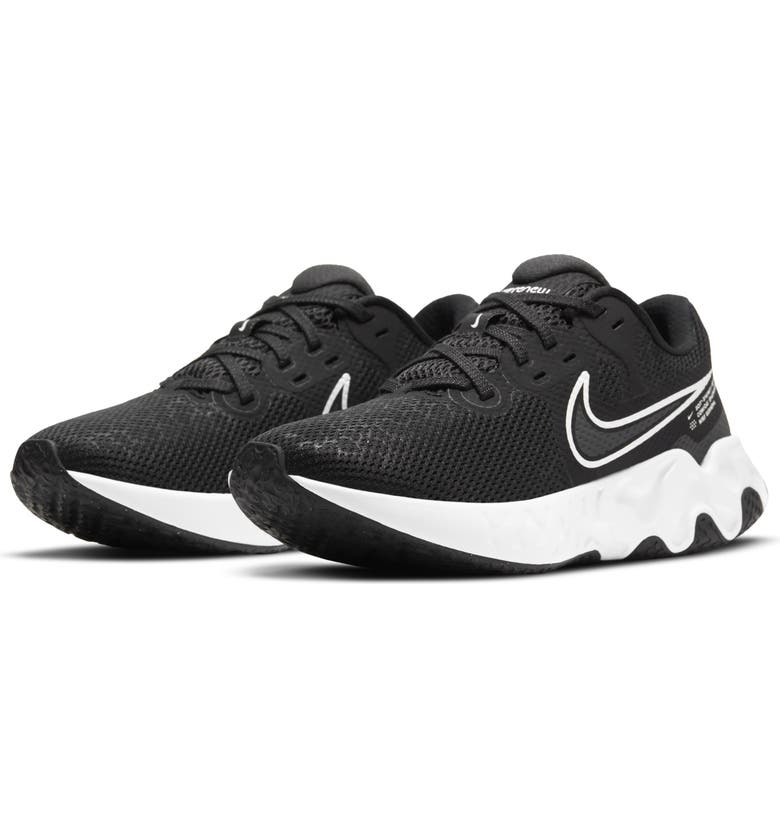NIKE Renew Ride Running Shoe, Main, color, BLACK/ WHITE