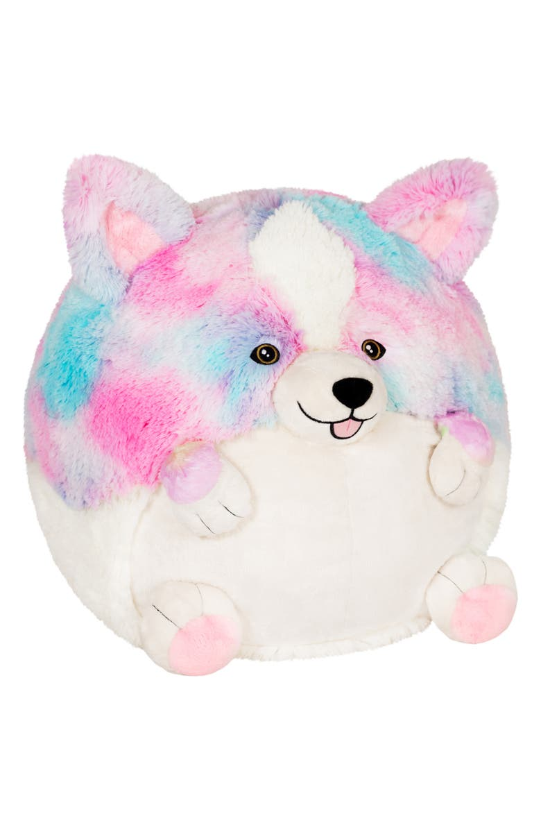 SQUISHABLE Cotton Candy Corgi Stuffed Animal, Main, color, 960
