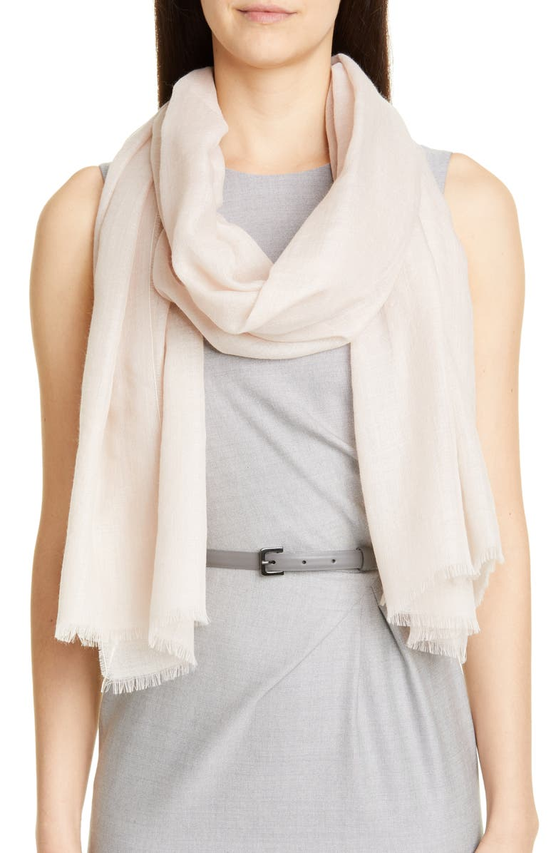 MAX MARA Marabu Lightweight Alpaca Scarf, Main, color, POWDER