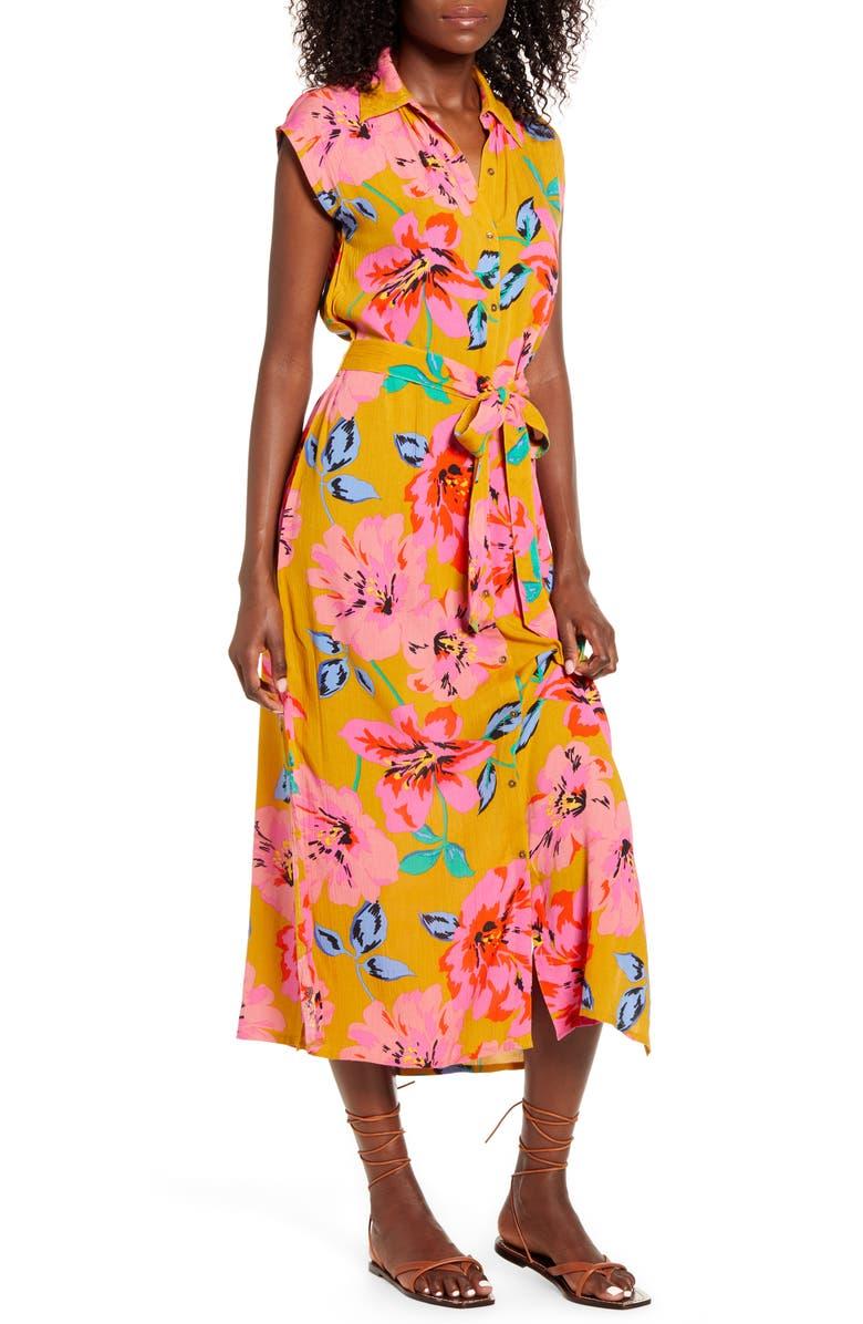 BILLABONG Little Flirt Midi Dress, Main, color, MOSS LANDING