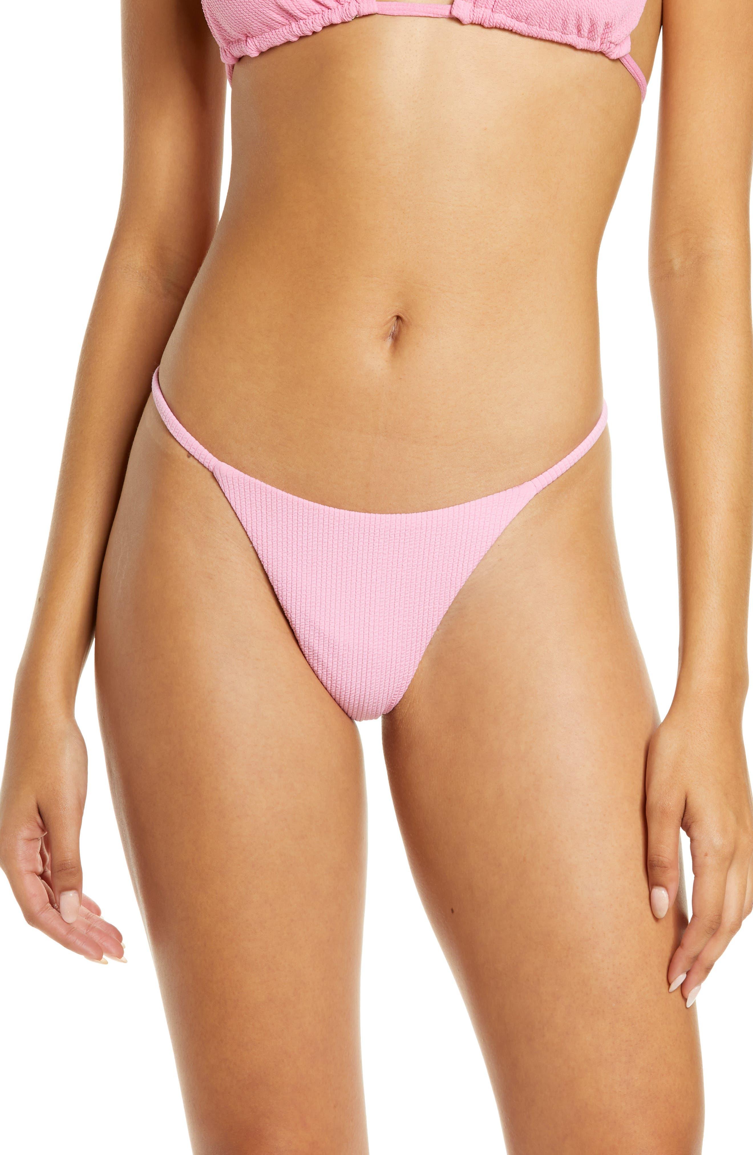 Rose Lemonade Micromini Reversible Bikini Bottoms