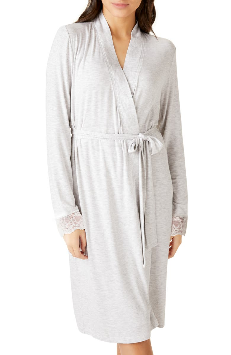 THE WHITE COMPANY Eyelash Lace Robe, Main, color, CLOUD MARL