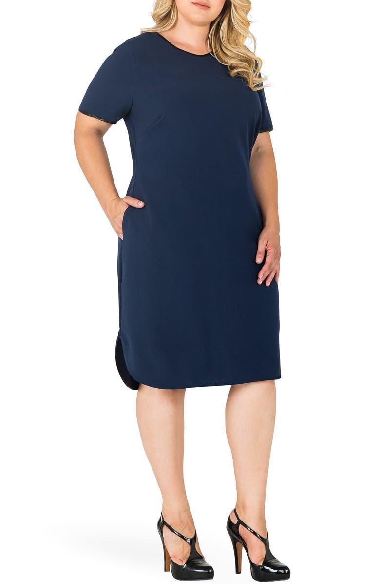 STANDARDS & PRACTICES Tania V-Neck Shift Dress, Main, color, 419