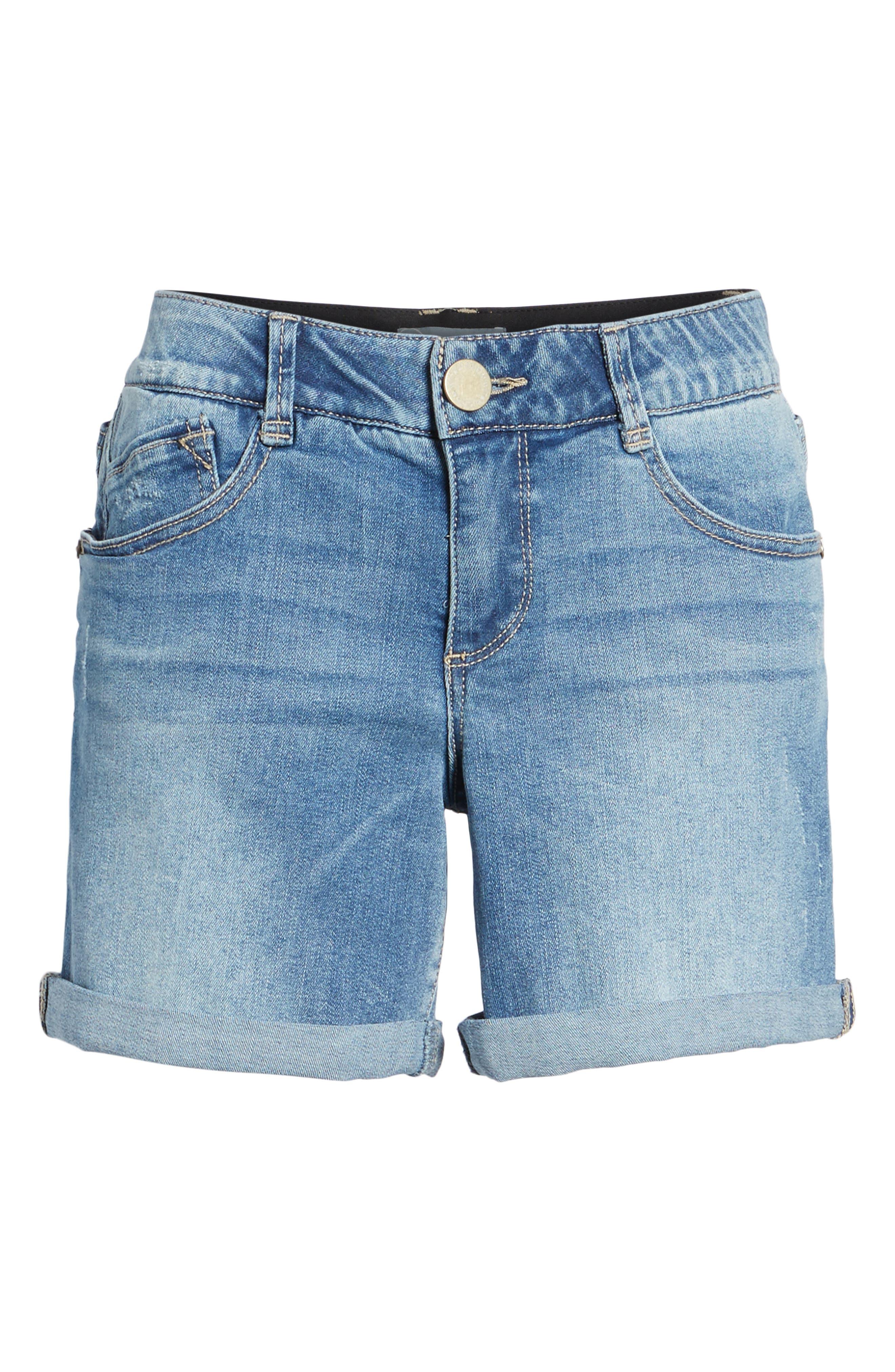 ,                             Ab-solution Denim Shorts,                             Alternate thumbnail 7, color,                             LIGHT BLUE
