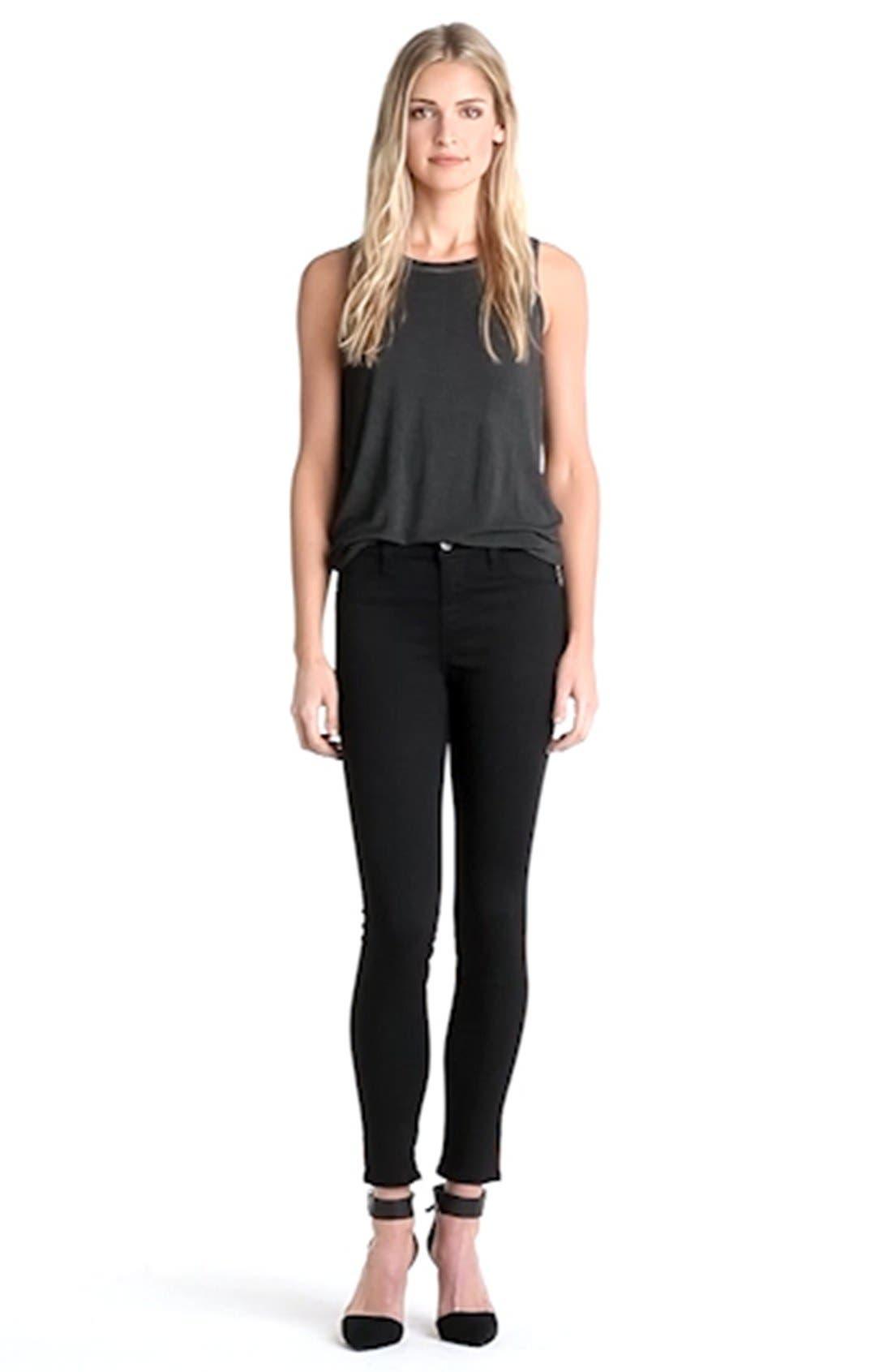 ,                             '485' Mid Rise Super Skinny Jeans,                             Alternate thumbnail 5, color,                             002