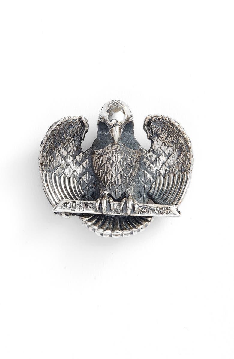 KONSTANTINO Heonos Two-Tone Eagle Pendant, Main, color, SILVER/ GOLD