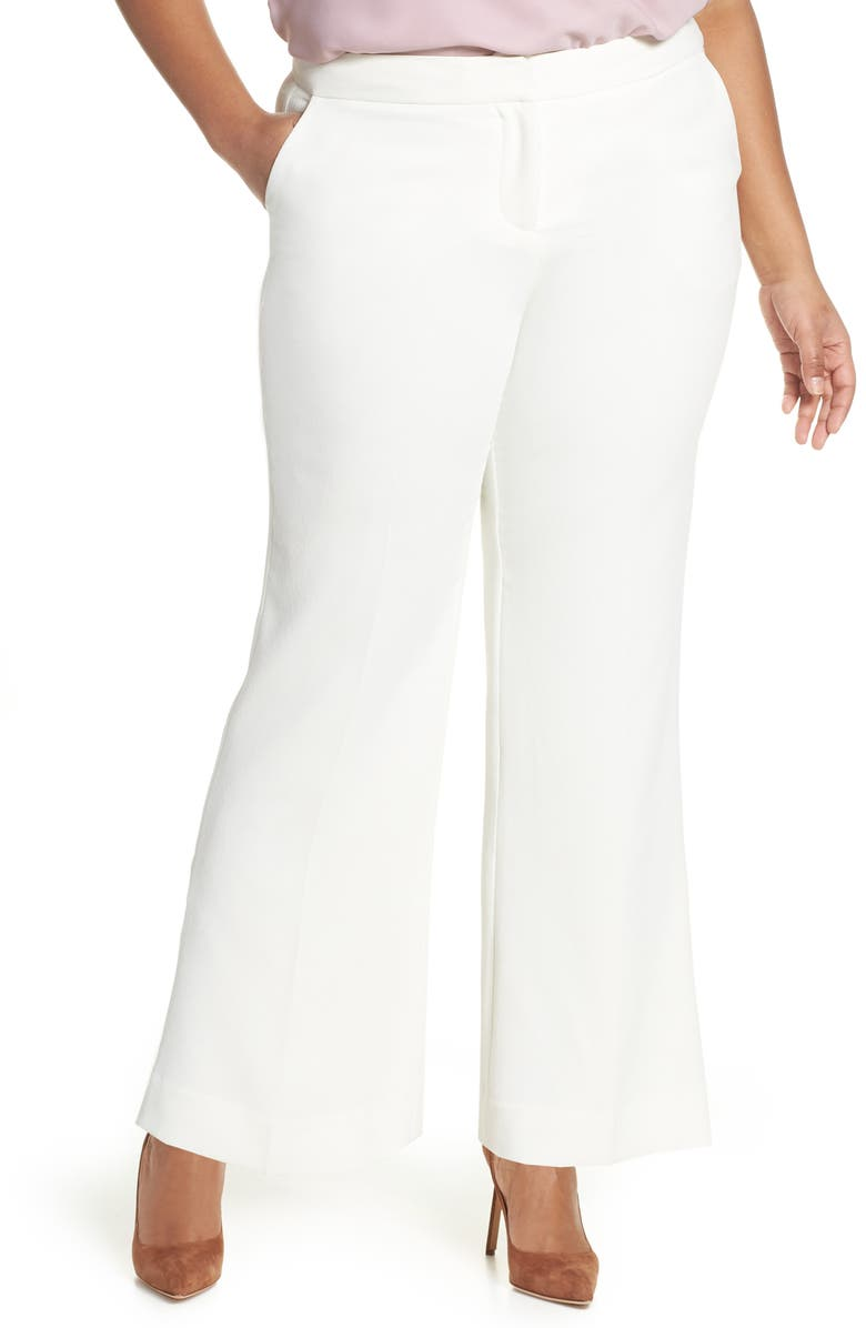 VINCE CAMUTO Crepe Trousers, Main, color, 900