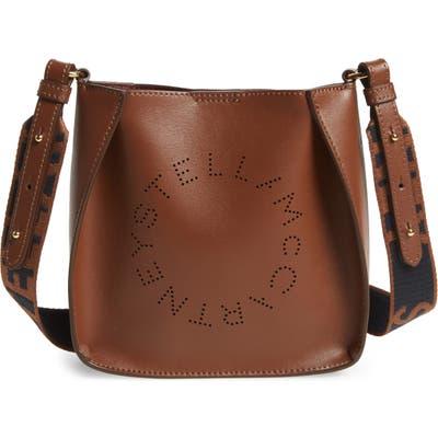Stella Mccartney Logo Alter Nappa Faux Leather Crossbody Bag - Brown