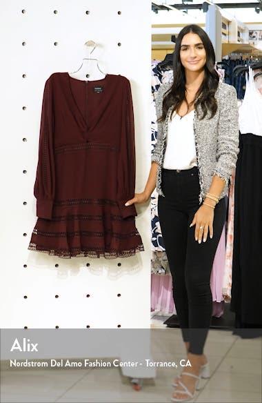 Luella Lace Trim Long sleeve Fit & Flare Dress, sales video thumbnail