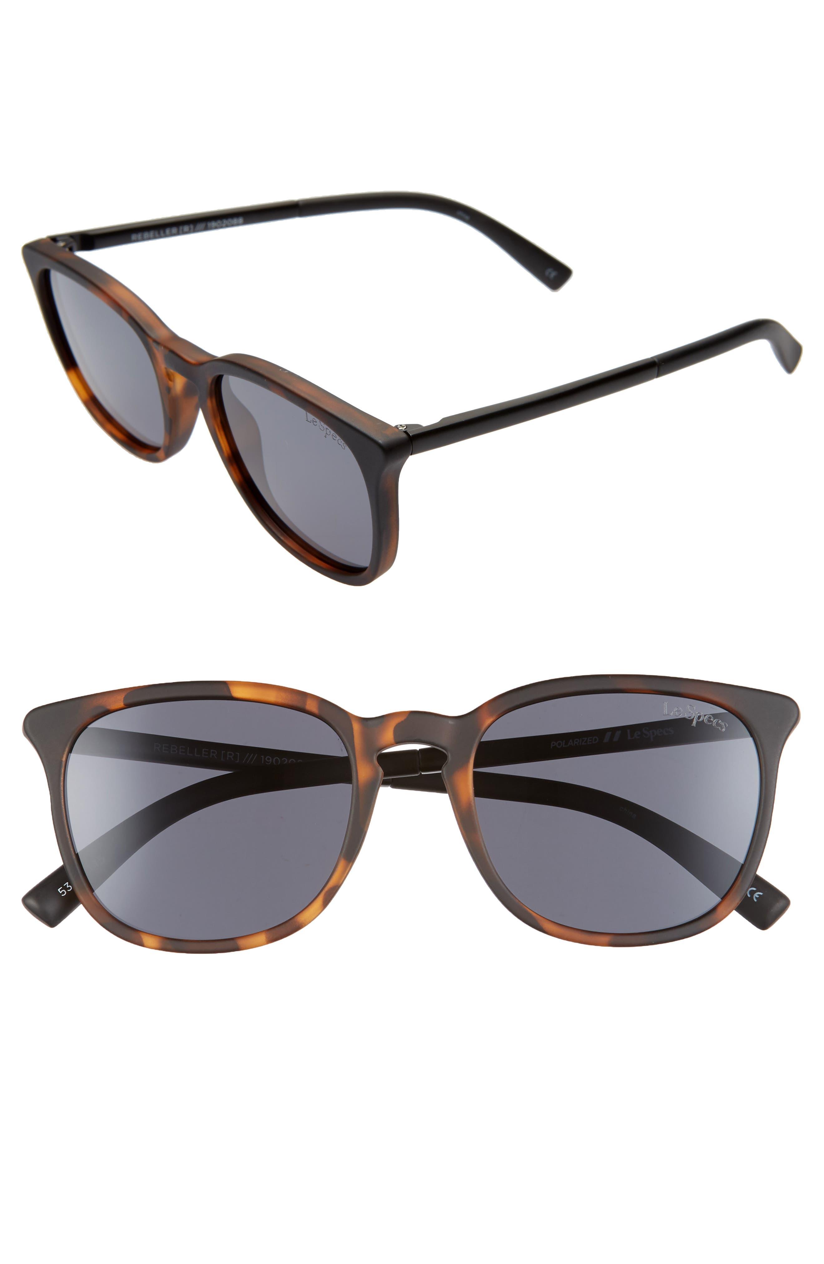 Le Specs Rebeller 5m Sunglasses - Matte Tortoise/ Smoke