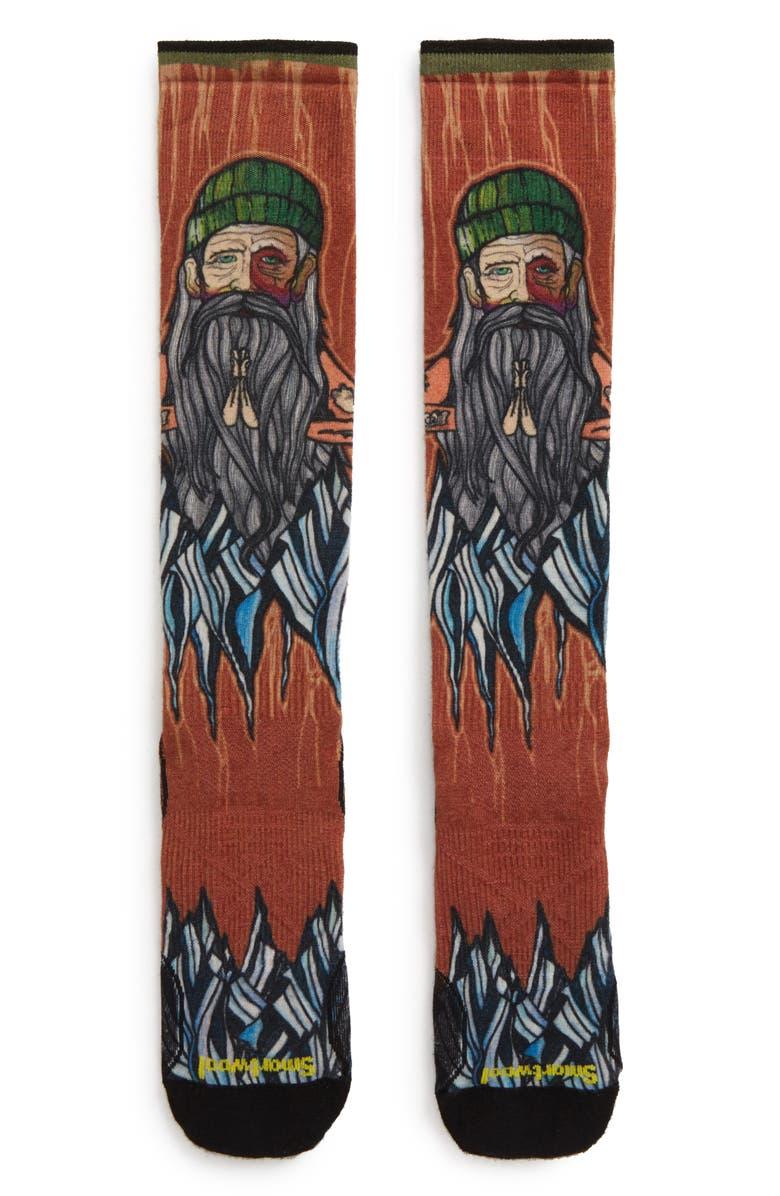 SMARTWOOL PhD<sup>®</sup> Old Man Winter Ski Ultra Light Socks, Main, color, CARDAMOM