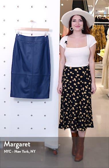 Selrita Leather Pencil Skirt, sales video thumbnail