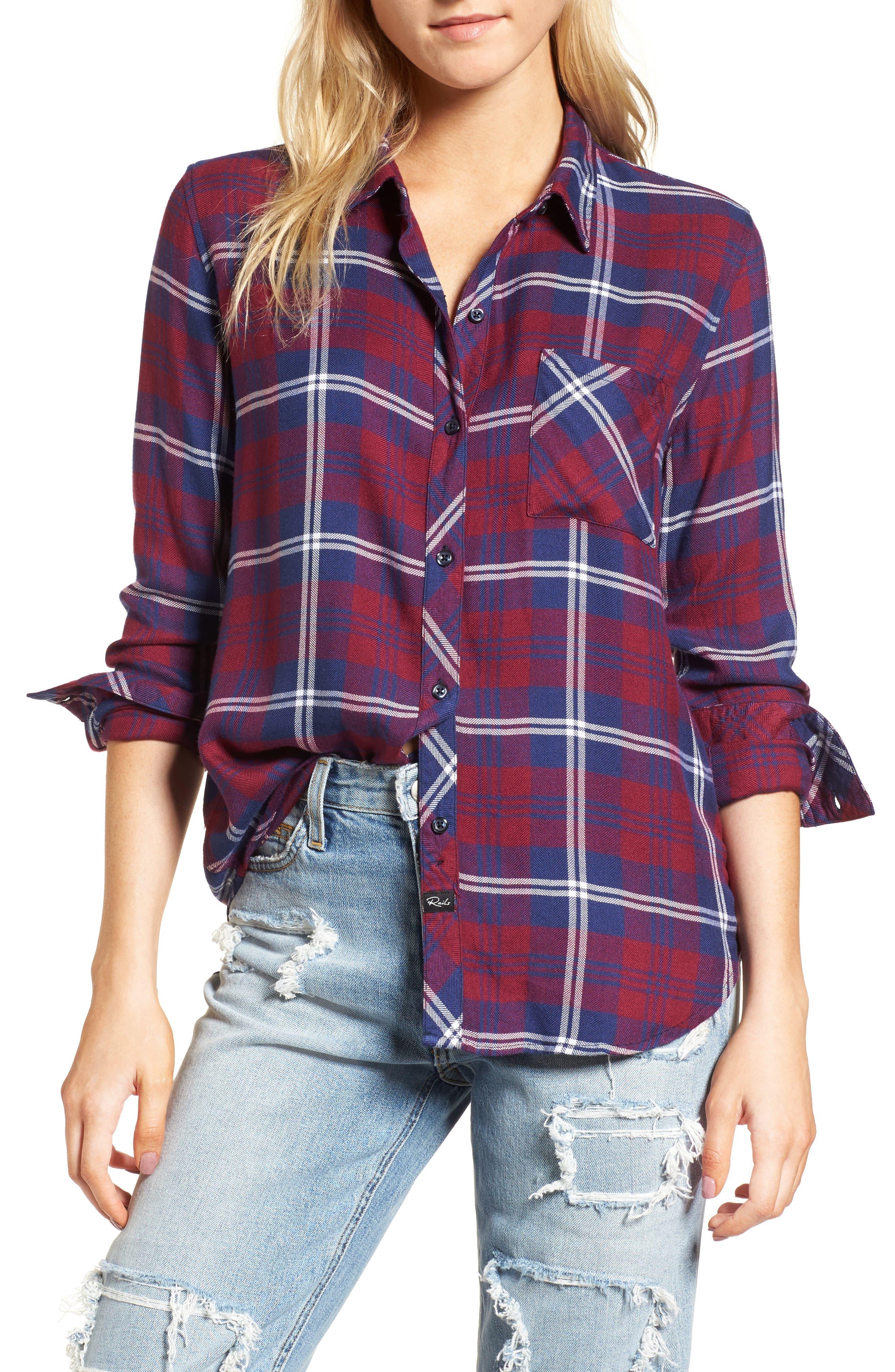 ,                             Hunter Plaid Shirt,                             Main thumbnail 722, color,                             401