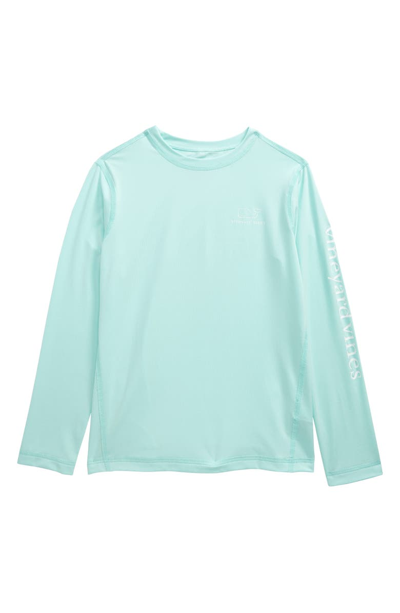 VINEYARD VINES Long Sleeve Rashguard Top, Main, color, BLUE MIST