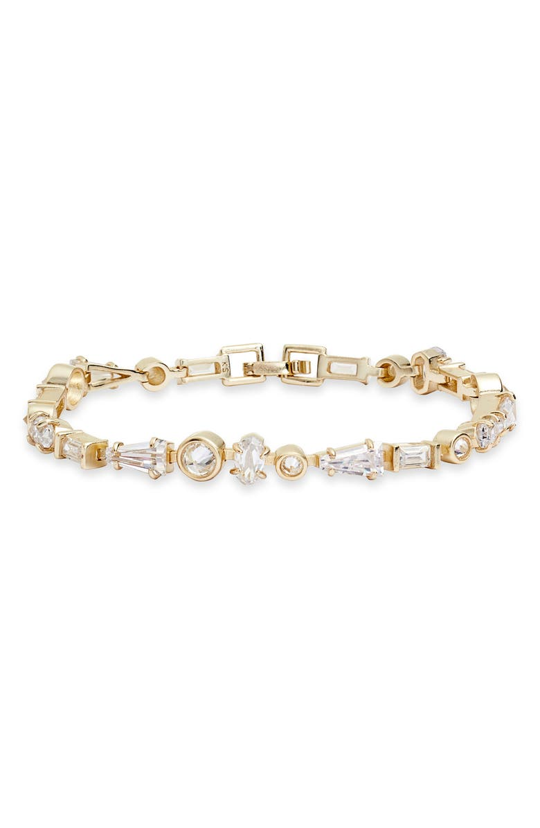 KENDRA SCOTT Rumi Link Bracelet, Main, color, GOLD LUSTRE/ GLASS CZ