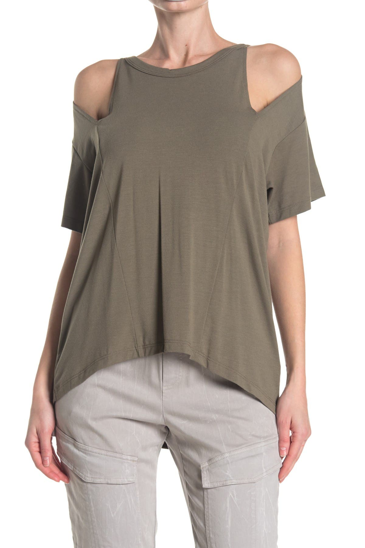 Image of LNA Short Sleeve Slice Top