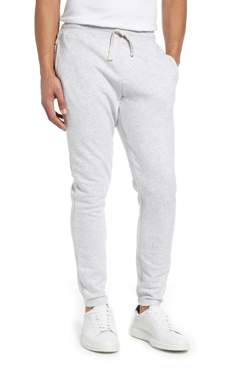 RHONE Heritage French Terry Sweatpants, Main, color, LIGHT GREY HEATHER