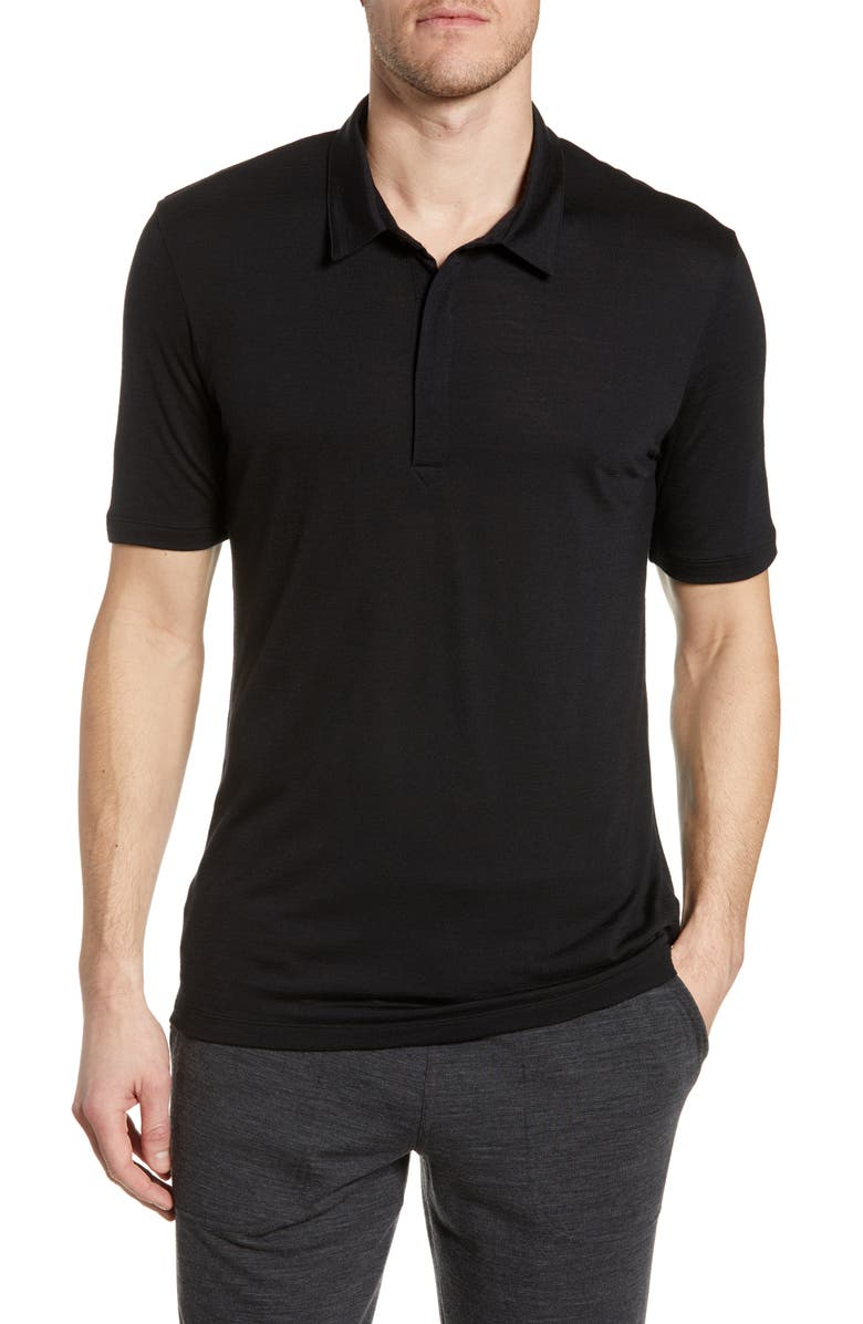 ICEBREAKER Solace Cool-Lite<sup>™</sup> Polo, Main, color, 001