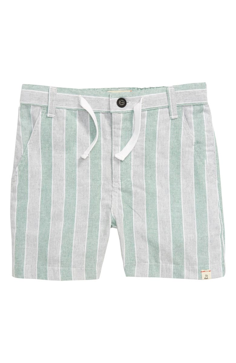 ME & HENRY Stripe Shorts, Main, color, GREEN/GREY