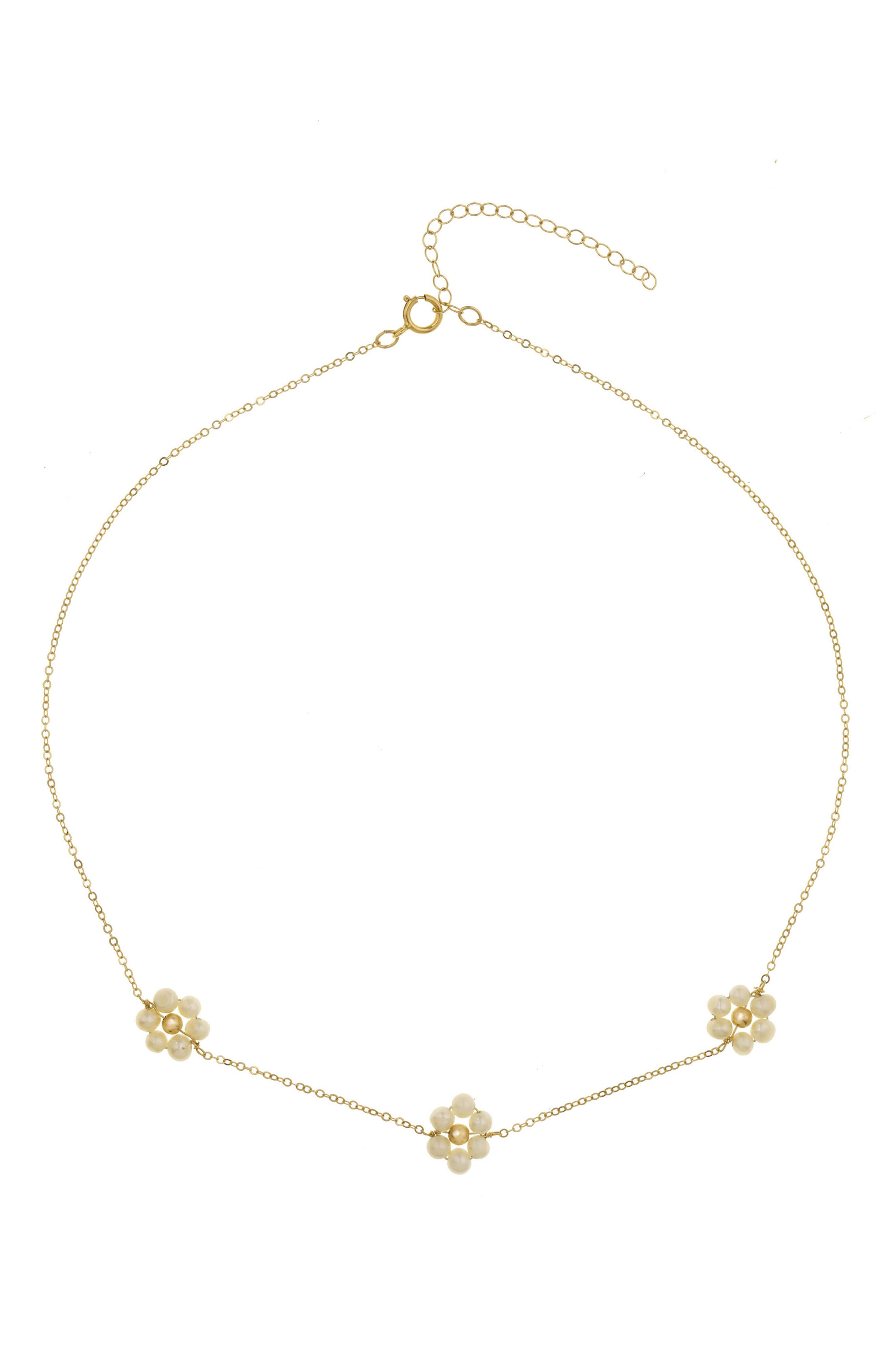 Fiores Freshwater Pearl Choker Necklace