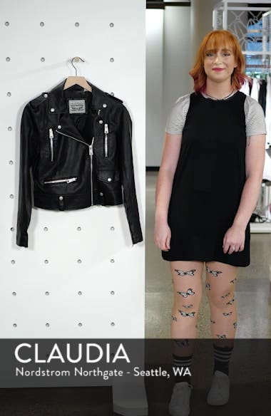 Faux Leather Moto Jacket, sales video thumbnail