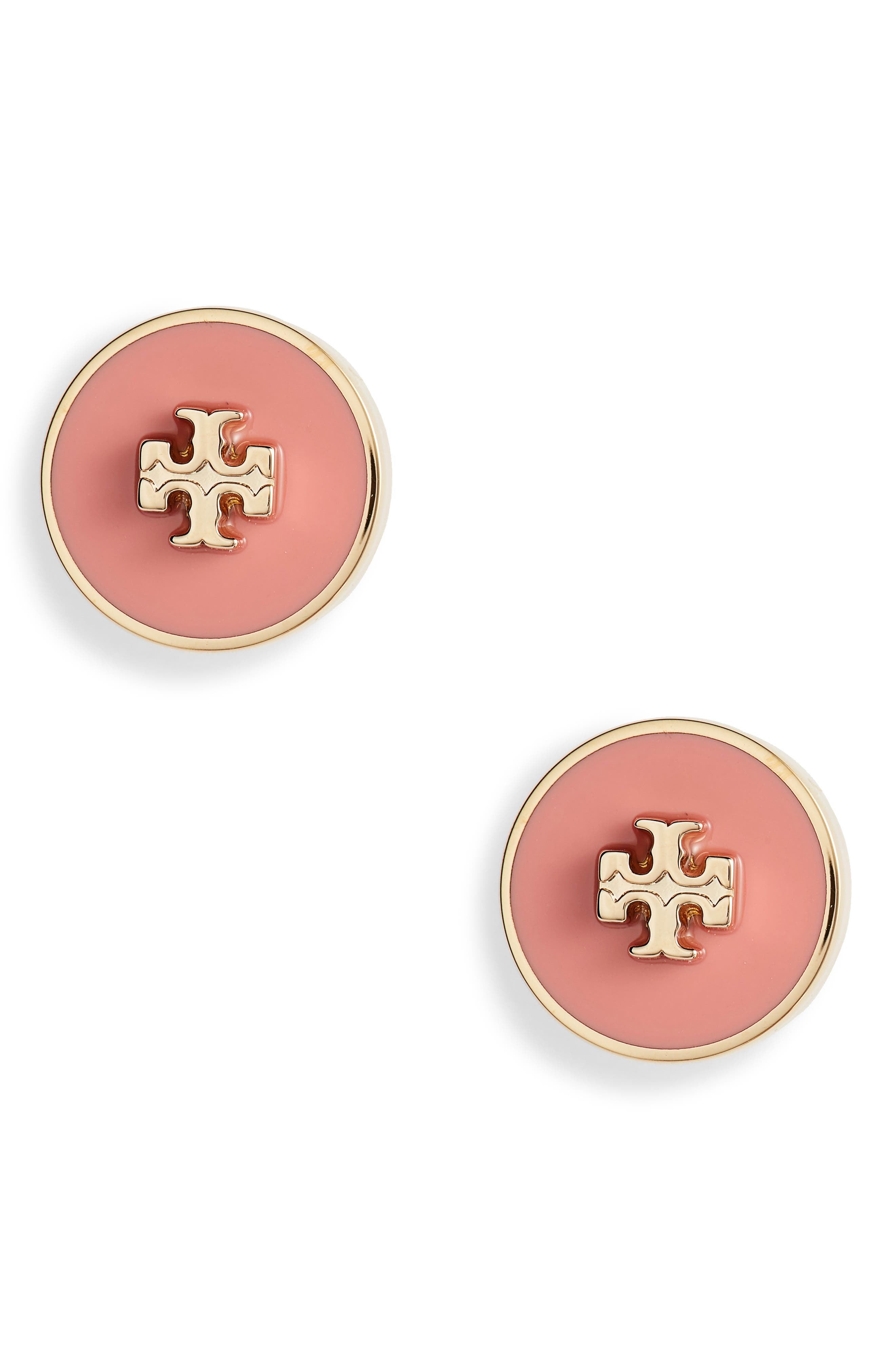 Pink Leather Petals Gift Set Graphic Studs