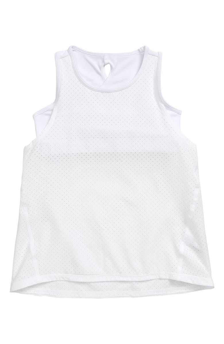 ZELLA GIRL Infinity Layered Tank, Main, color, WHITE