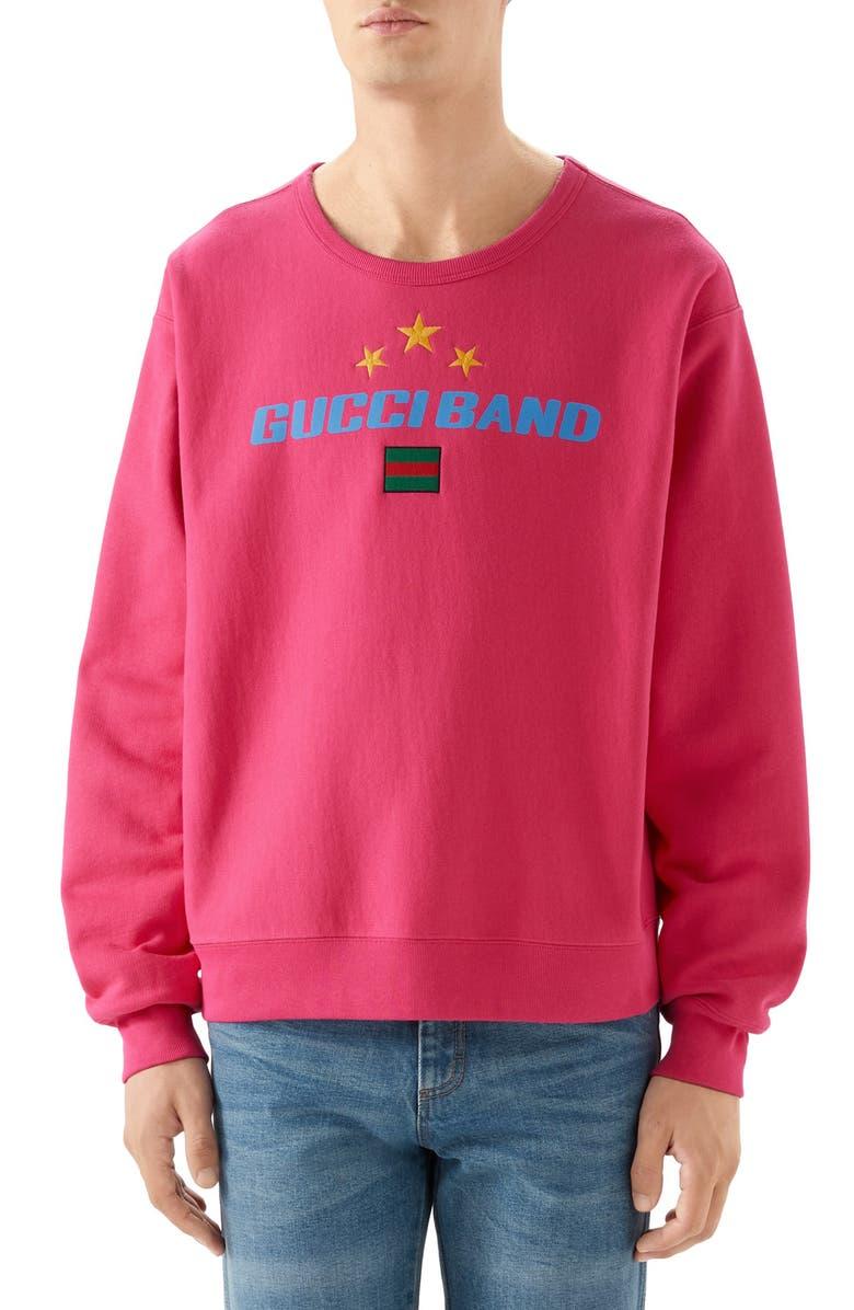 GUCCI Band Print Sweatshirt, Main, color, 650