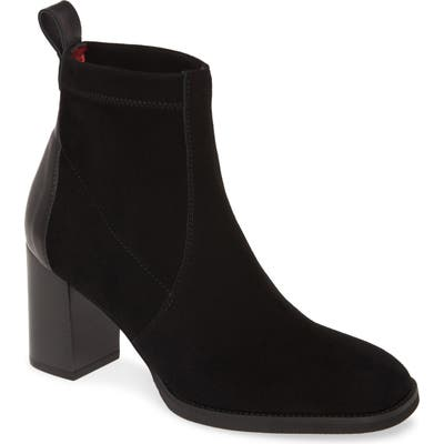 Pas De Rouge Chantal Stretch Bootie, Black
