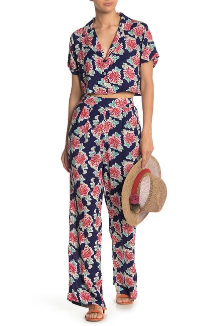 Image of EMORY PARK Floral High Waisted Pants