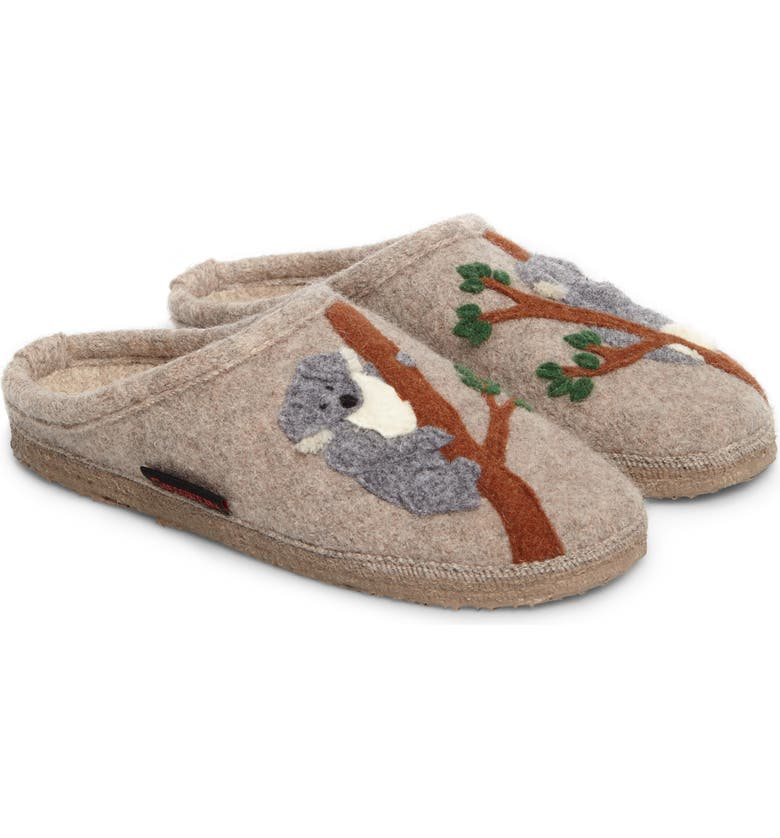 Koala Indoor Boiled Wool Slipper