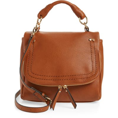 Sole Society Mini Rubie Faux Leather Crossbody Bag - Brown