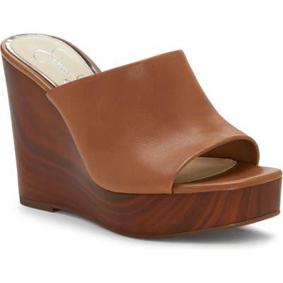 Jessica Simpson Shantelle Wedge Slide Sandal, Beige